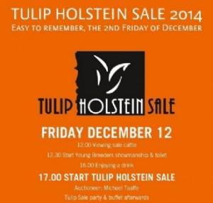 DECEMBER 12 AND 13: TULIP HOLSTEIN SALE & HOLLAND HOLSTEIN SHOW 2014